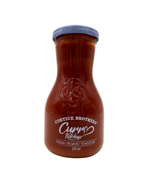 """Ekologiškas kario pomidorų kečupas CURTICE BROTHERS """"Curry"""", 270 ml"""