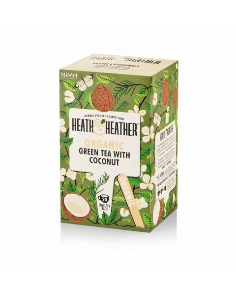 Ekologiška žalioji arbata HEATH & HEATHER kokosų skonio  40g
