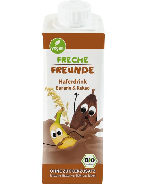 Ekologiškas avižų gėrimas FRECHE FREUNDE su bananais ir kakava, 250 ml
