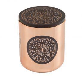 "Namų  žvakė CANDELE FIRENZE ""Metalic Copper Bacco Fragrance"", 100x90 mm, 60 h, 1 vnt."