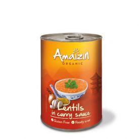 Ekologiški konservuoti lęšiai kario padaže AMAIZIN, 420 g