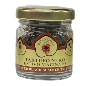 Smulkinti juodieji vasariniai triufeliai BOSCO D'ORO alyvuogių aliejuje, 30 g
