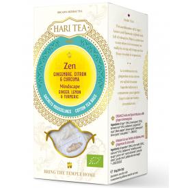 "Ekologiška ajurvedinė arbata HARI TEA ""Mindscape"" Ginger&Lemon, 10 maišelių"