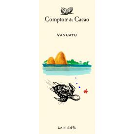 Pieninis šokoladas 44% COMPTOIR du CACAO Vanuatu, 80 g