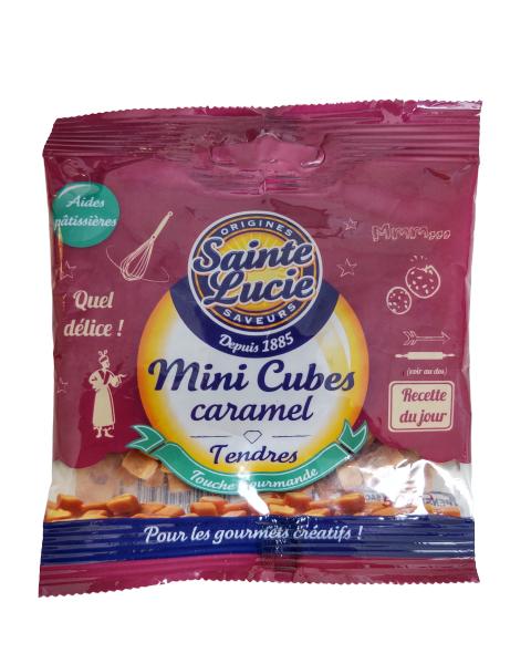 Mini karamelės kubeliai SAINTE LUCIE, 50 g