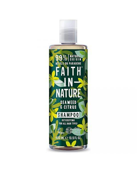 Detoksikuojamasis šampūnas FAITH IN NATURE su jūros dumbliais, 400 ml