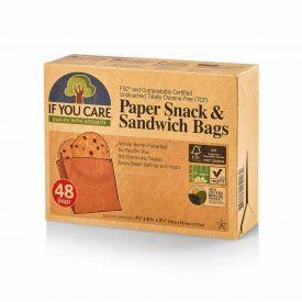 Popieriniai sumuštinių ir užkandžių maišeliai IF YOU CARE, 48 vnt.
