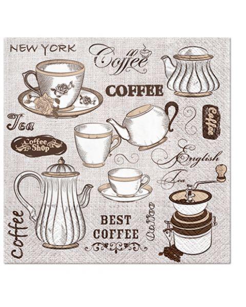 """Serviravimo servetėlės PAW """"Aroma Tea or Coffee"""", 20 vnt."""