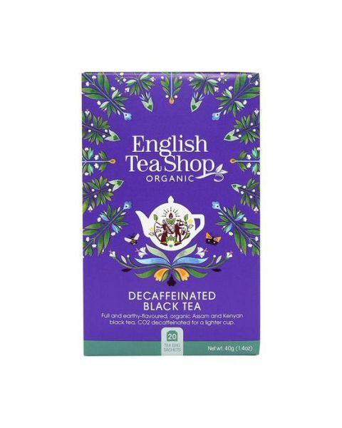 Ekologiška arbata ENGLISH TEA SHOP Decafinated breakfast, 20 maišelių