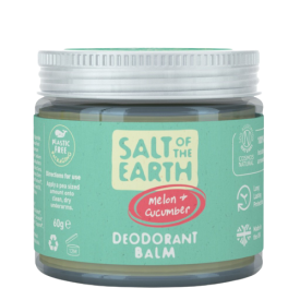 Natūralus tepamas dezodorantas SALT OF THE EARTH su melionais ir agurkais, 60g