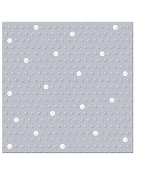 "Serviravimo servetėlės PAW ""Dots Spots Silver White"", 20 vnt."