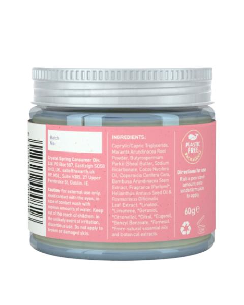 Natūralus tepamas dezodorantas SALT OF THE EARTH su vanile ir levandomis, 60g 2
