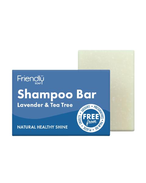 Veganiškas sausas šampūnas su levandomis ir arbatmedžiu FRIENDLY, 95 g