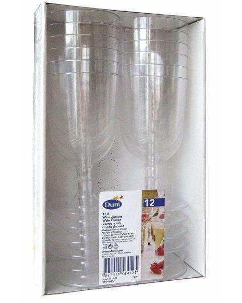 Vienkartinės vyno taurės DUNI, 150 ml, 12 vnt. 2
