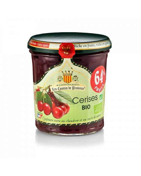 Ekologiškas vyšnių džemas LES COMTES DE PROVENCE, 350 g