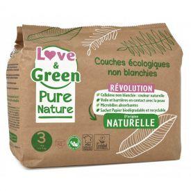 Ekologiškos Love&Green sauskelnės, 3 dydis, 4 - 9 kg, 42 vnt