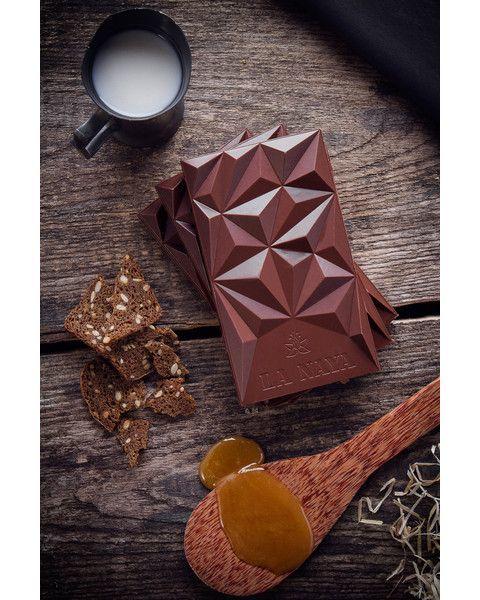 Pieninis šokoladas su grikių medumi ir duona LA NAYA, 45%, 80g 3