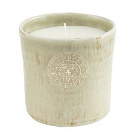 "Namų žvakė CANDELE FIRENZE ""Ceramic Antique Green"", 120x120 mm, 70 h, 1 vnt."