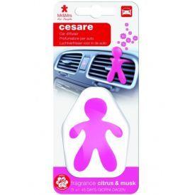 Automobilių oro gaiviklis CESARE plastikinėje pakuotėje - CITRUS & MUSK, Mr&Mrs Fragrance
