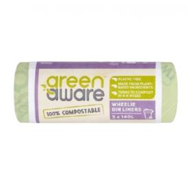 Suyrantys šiukšlių maišai GREEN AWARE 140 L, 3 vnt.
