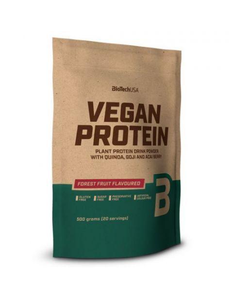 Augalinės kilmės baltymo milteliai BioTechUSA VEGAN PROTEIN 500g., miško uogų skonio