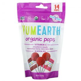 Ekologiški ledinukai YUMEARTH su vitaminu C be gliuteno ant pagaliuko, 87 g