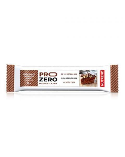 Baltyminis batonėlis NUTREND PROZERO šokolado ir lazdynų riešutų pyrago skoniom, 65g.