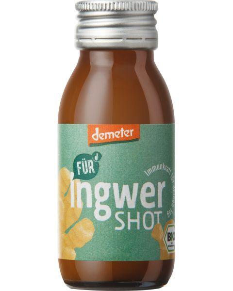Ekologiškos biodinaminės sultys FUR shot su imbieru, 60ml