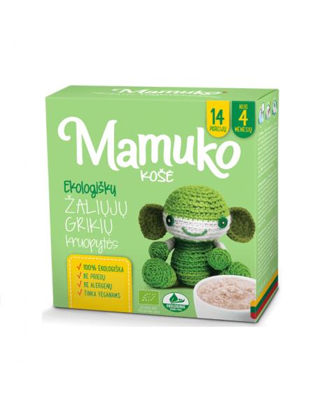 Ekologiškos šviesių grikių kruopytės košei MAMUKO vaikams nuo 4 mėn., 240 g