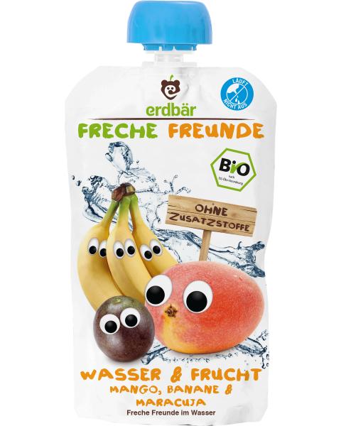 Ekologiškas gėrimas FRECHE FREUNDE su mangais ir bananais, nuo 1 m., 200 ml