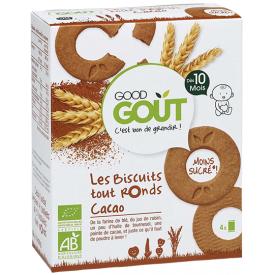 Ekologiški apvalūs sausainiai GOOD GOUT kakavos skonio, 80g., nuo 10 mėnesių
