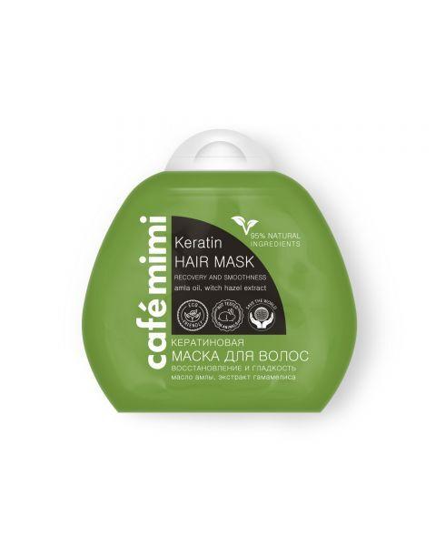 Atstatomoji, švelnumo suteikianti kaukė plaukams CAFÉ MIMI su keratinu, 100 ml