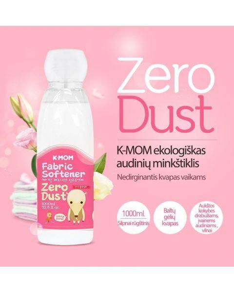 Ekologiškas audinių minkštiklis K-MOM Zero Dust, 1000ml. 3