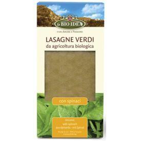 Ekologiški makaronai lazanijai LA BIO IDEA su špinatais, 250 g