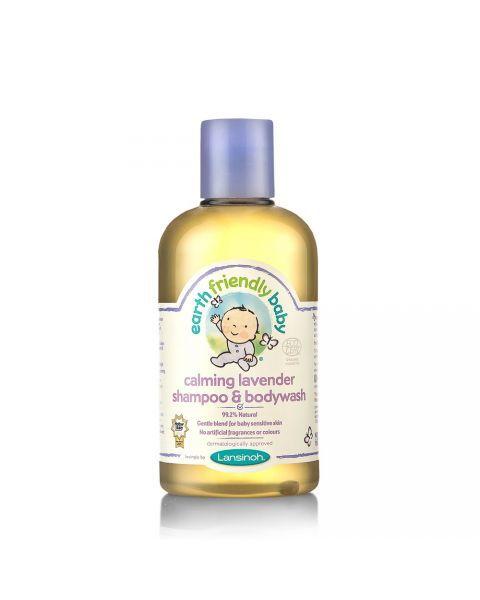 Ekologiškas levandų kvapo šampūnas ir kūno prausiklis EARTH FRIENDLY BABY, 250 ml
