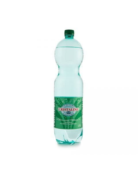 Šaltinio vanduo CRISTALINE, gazuotas 1,5L