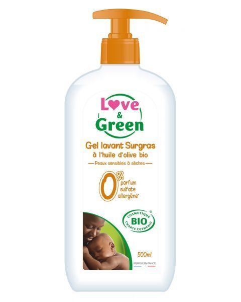 Ekologiškas prausiklis Surgras kūdikiams LOVE&GREEN, 500 ml