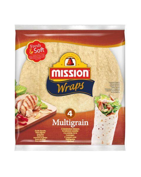 Įvairių grūdų tortilijos MISSION FOOD (4 vnt), 25cm, 245g