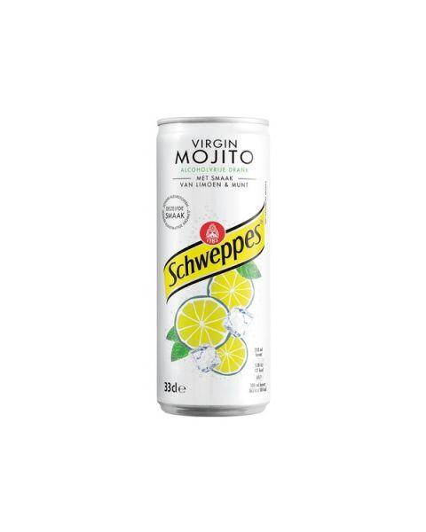 Gazuotas gėrimas SCHWEPPES virgin mojito skonis, 330 ml