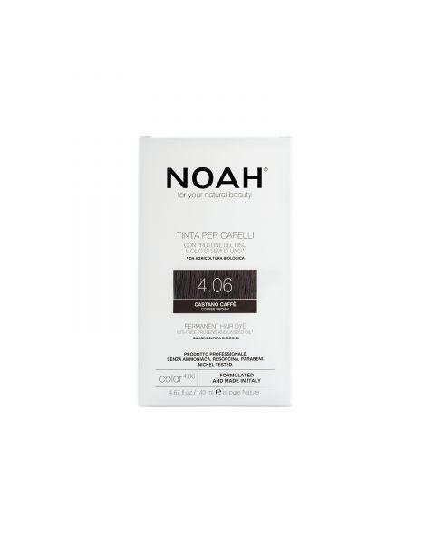 Plaukų dažai NOAH (4.06 kavos ruda), 140ml