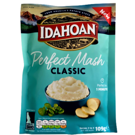 Greito paruošimo bulvių košė IDAHOAN klasikinio skonio, 109 g