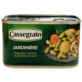 """Konservuotų daržovių mišinys CASSEGRAIN """"Jardiniere"""", 400 g"""