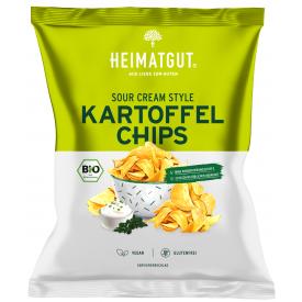 Ekologiški bulvių traškučiai HEIMATGUT su grietine, 125 g