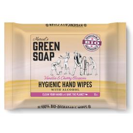 Rankų servetėlės MARCELS GREEN SOAP su vanile ir vyšnių žiedais, 15 vnt.