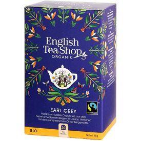 Ekologiška arbata ENGLISH TEA SHOP Earl grey, 20 maišelių