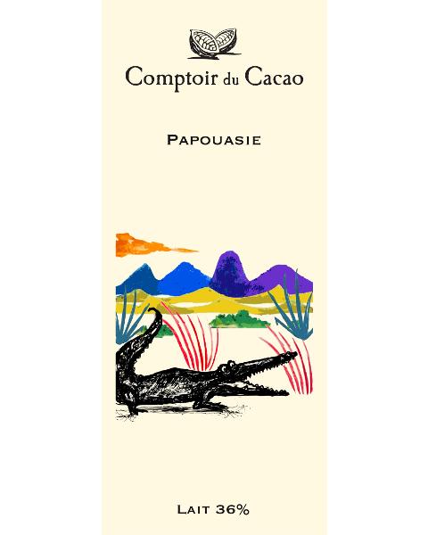 Pieninis šokoladas 36% COMPTOIR du CACAO Papua, 80 g