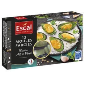 Šaldytos virtos midijos su česnakiniu sviestu ESCAL, 125g