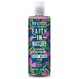 Vonios putos FAITH IN NATURE su levandomis ir snapučiais, 400 ml