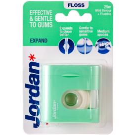 Tarpdančių siūlas JORDAN su dantų pasta Expand Fresh, 25m.