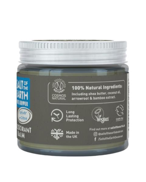 Natūralus tepamas dezodorantas SALT OF THE EARTH su vetiverijomis ir citrinomis, 60 g 3